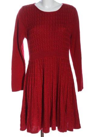 Calvin Klein Vestido tejido rojo look casual