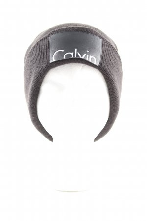 Calvin Klein Strickmütze braun Casual-Look