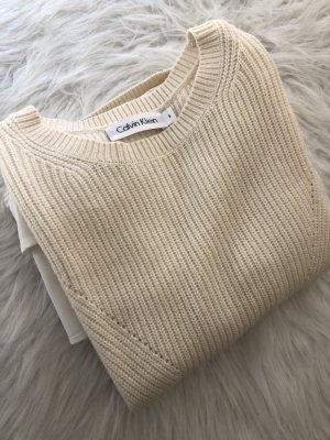 Calvin Klein Strickpullover mit Hemdeinsatz