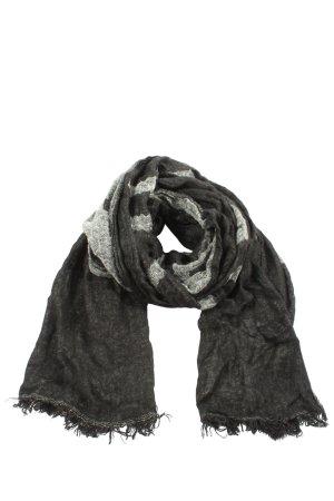 Calvin Klein Bufanda de punto negro-gris claro moteado look casual