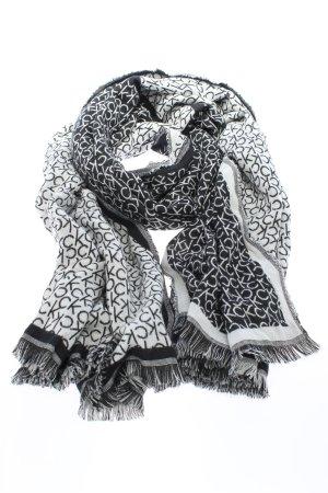 Calvin Klein Strickschal schwarz-weiß Allover-Druck Casual-Look