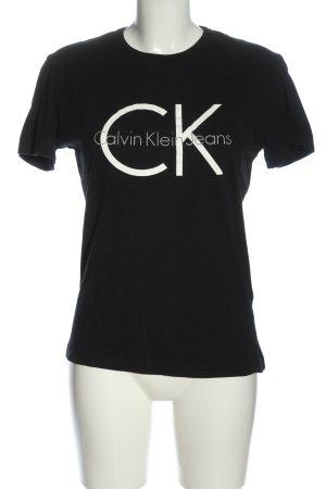 Calvin Klein Camicia maglia nero caratteri stampati stile casual