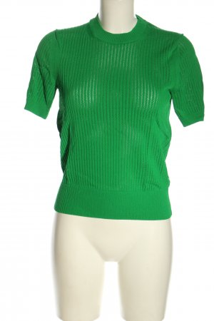 Calvin Klein Strickshirt grün Casual-Look