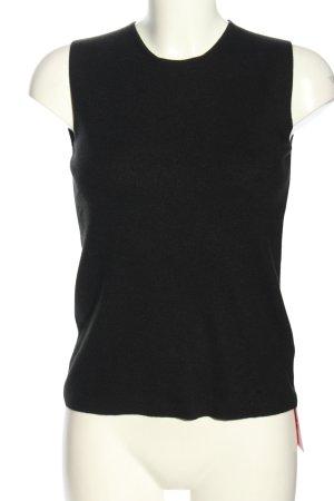 Calvin Klein Top lavorato a maglia nero stile casual