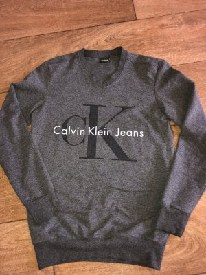 Calvin Klein Jeans Chaqueta de tela de sudadera gris oscuro-gris
