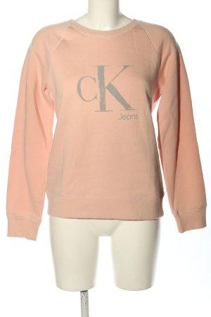 Calvin Klein Sweatshirt nude-hellgrau Motivdruck Casual-Look