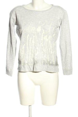 Calvin Klein Sweatshirt lichtgrijs-wolwit abstract patroon casual uitstraling
