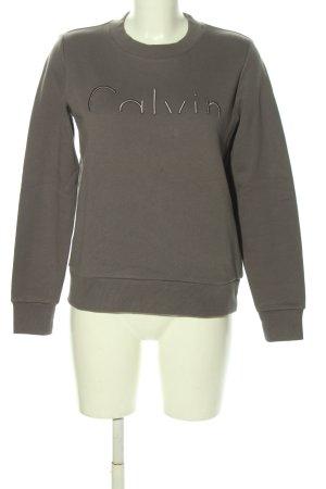 Calvin Klein Sweatshirt hellgrau meliert Casual-Look