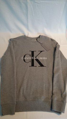 Calvin Klein Jeans Sweatshirt grijs Katoen