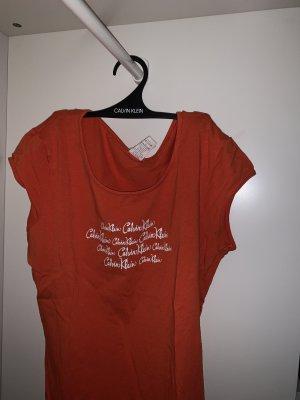 Calvin Klein Boatneck Shirt white-orange
