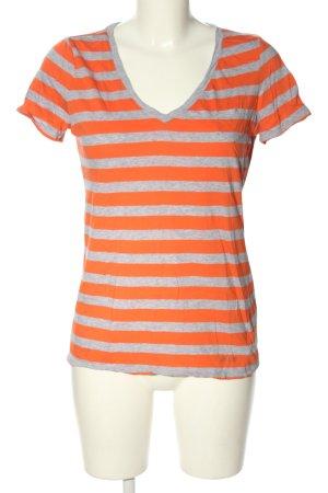 Calvin Klein T-Shirt hellgrau-hellorange meliert Casual-Look