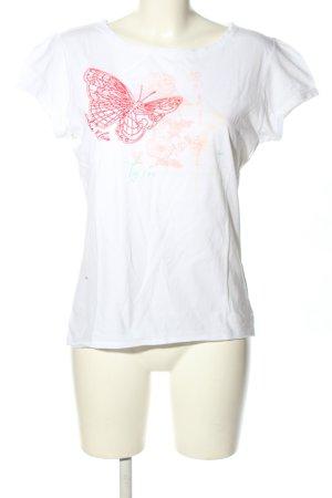 Calvin Klein T-Shirt weiß-rot Motivdruck Casual-Look