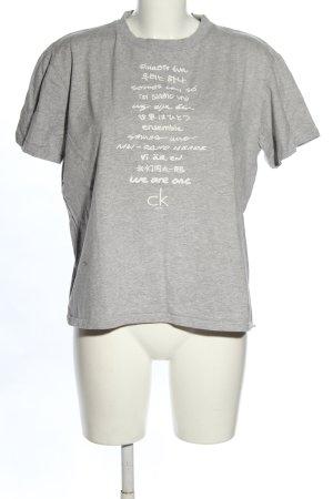 Calvin Klein T-Shirt hellgrau-weiß meliert Casual-Look
