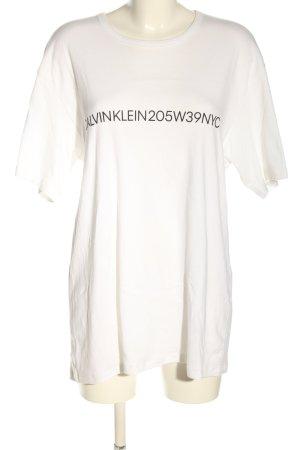 Calvin Klein T-Shirt weiß Schriftzug gedruckt Casual-Look