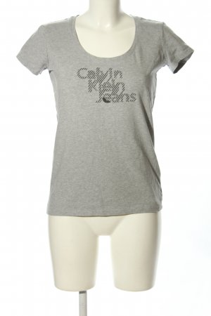 Calvin Klein T-Shirt hellgrau meliert Casual-Look