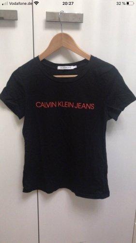 Calvin Klein Jeans Koszulka z nadrukiem czarny-czerwony