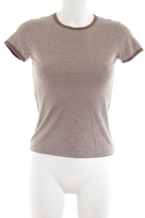 Calvin Klein T-Shirt braun Schriftzug gedruckt Casual-Look