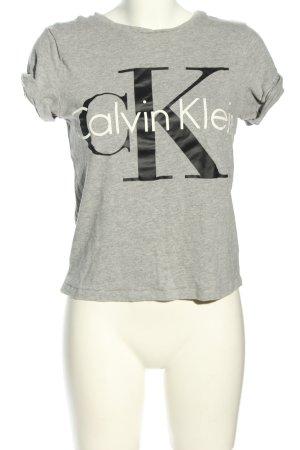 Calvin Klein T-shirt grigio chiaro-nero puntinato stile casual