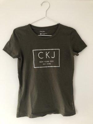 Calvin Klein T-Shirt dunkelgrün