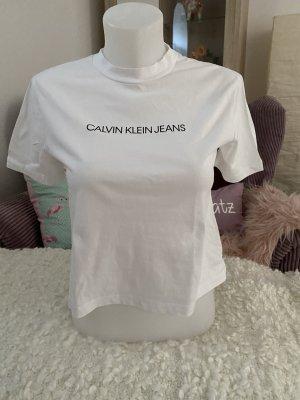 Calvin Klein T-Shirt Gr S weiß mit Logo Np 29,95€
