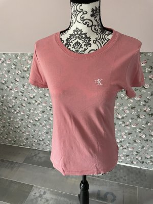 Calvin Klein T-shirt roze-abrikoos