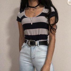 Calvin Klein T-Shirt Vintage gestreiftes  körpernahes Shirt | XS