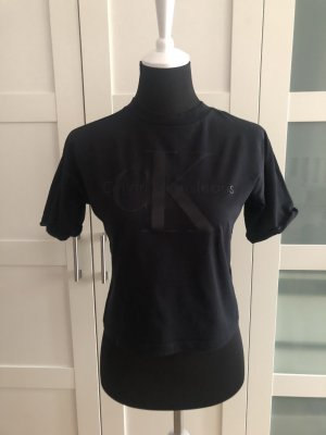Calvin Klein T-shirt zwart Katoen