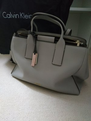 Calvin Klein Carry Bag silver-colored imitation leather