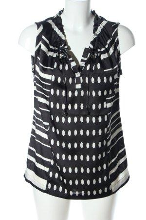 Calvin Klein Transparenz-Bluse schwarz-weiß Mustermix Casual-Look