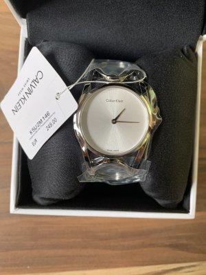 Calvin Klein Horloge met metalen riempje zilver