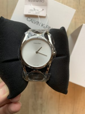 Calvin Klein Watch With Metal Strap silver-colored