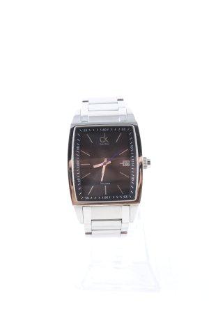 Calvin Klein Uhr mit Metallband silberfarben-schwarz Business-Look