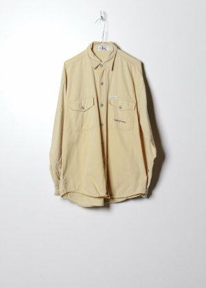 Calvin Klein Unisex Jeanshemd in Gelb