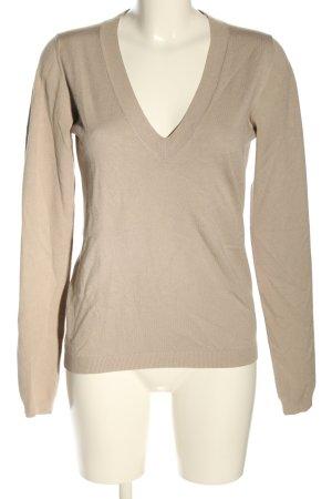 Calvin Klein V-Ausschnitt-Pullover creme Casual-Look