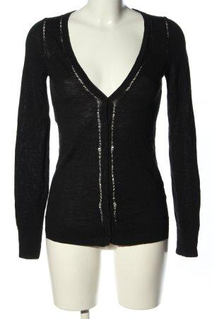 Calvin Klein V-Ausschnitt-Pullover schwarz Casual-Look