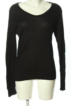 Calvin Klein V-hals shirt zwart casual uitstraling