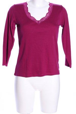 Calvin Klein V-Ausschnitt-Shirt rot Casual-Look