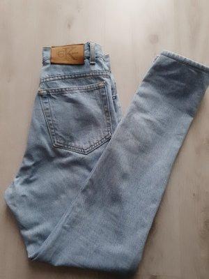 Calvin Klein Jeans Jeansy z wysokim stanem błękitny