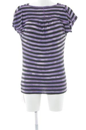 Calvin Klein Wasserfallshirt schwarz-lila Streifenmuster Casual-Look