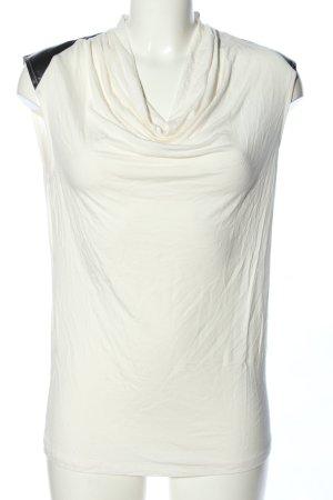 Calvin Klein Cowl-Neck Top white-black casual look
