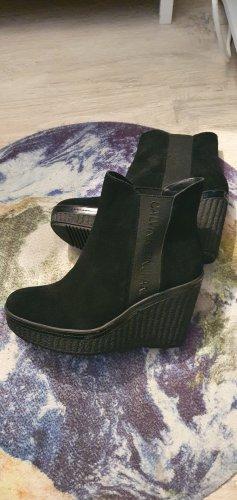 Calvin Klein Wedge Booties black