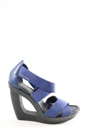 Calvin Klein Wedges Sandaletten blau extravaganter Stil
