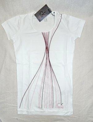 Calvin Klein weißes T-Shirt mit Print Gr.36