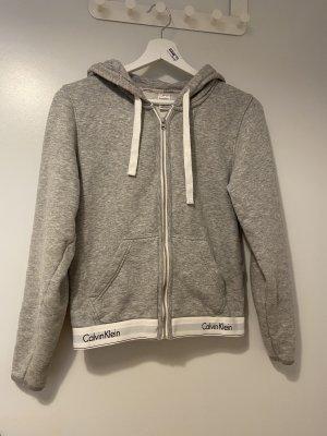 Calvin Klein Chaleco con capucha gris claro-blanco