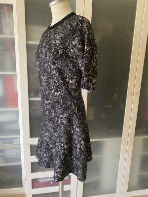 Calvin Klein Wełniana sukienka czarny-ciemnoszary Wełna