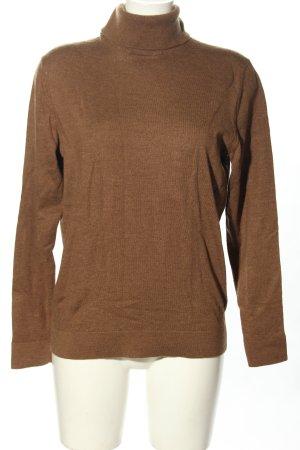 Calvin Klein Maglione di lana marrone puntinato stile casual