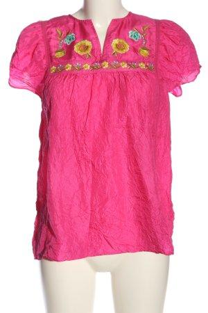 Calypso Blouse met korte mouwen roze-sleutelbloem casual uitstraling