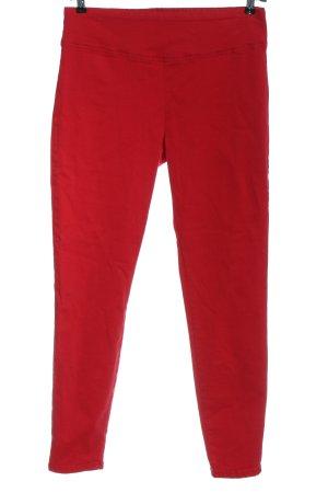 Calzedonia Pantalon taille haute rouge style décontracté