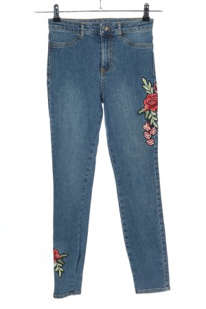Calzedonia High Waist Jeans Blumenmuster Casual-Look