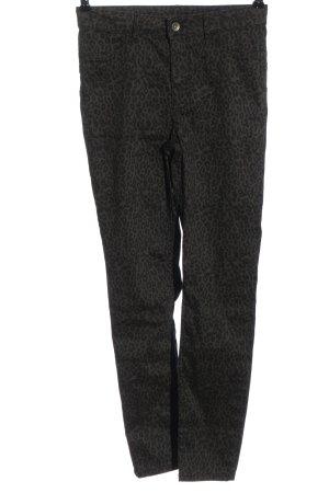 Calzedonia Jeans taille haute gris clair-noir motif abstrait style décontracté